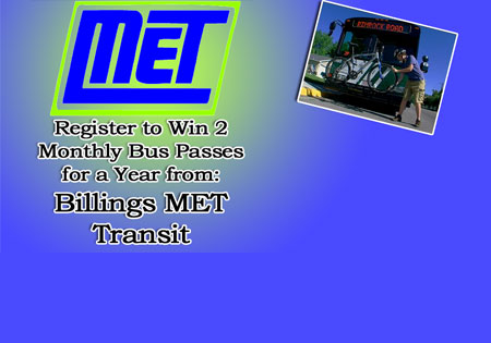 Win 2 Bus Passes, Billings MET Transit