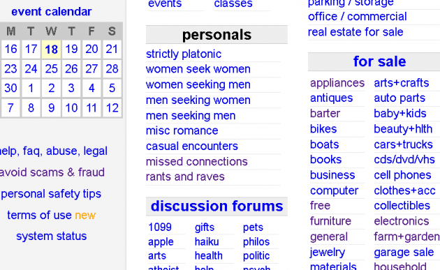 Craigslist nsa dating